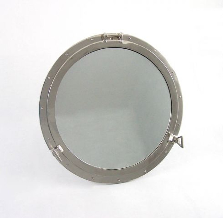 Deluxe Class Brushed Nickel Decorative Ship Porthole Window 30""