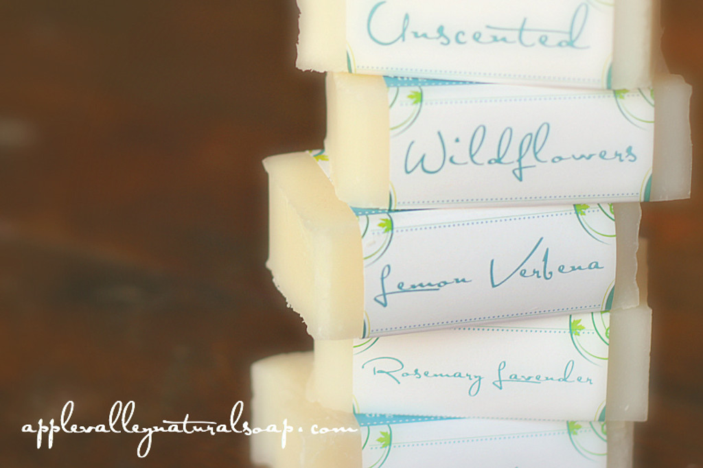 HALF Sized Coconut Body Bars by Apple Valley Natural Soap