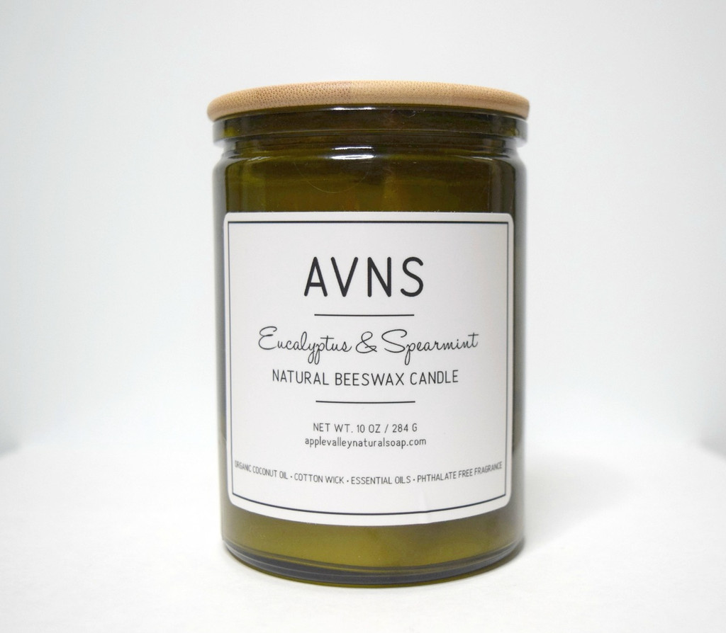 Eucalyptus & Spearmint Beeswax Candle by Apple Valley Natural Soap