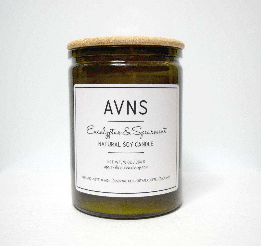 Eucalyptus & Spearmint Soy Candle by Apple Valley Natural Soap