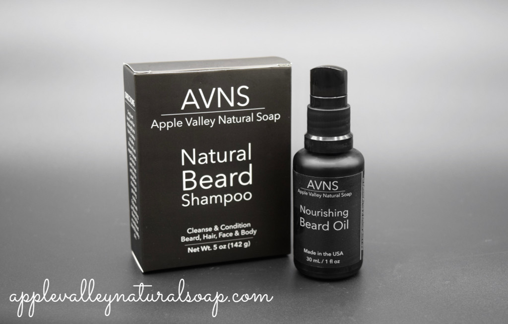 Nourishing Beard Oil and Shampoo by Apple Valley Natural Soap