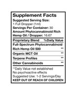 Hemp oil tincture by Apple Valley Natural Soap