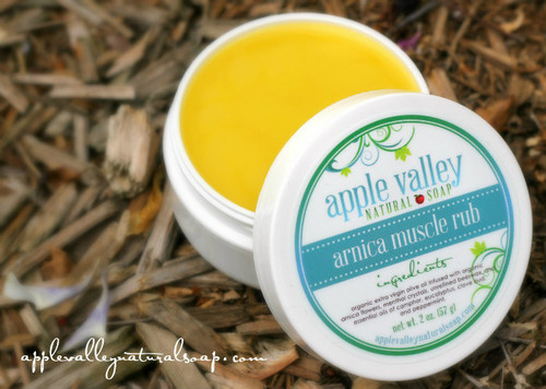 Organic Arnica Muscle Rub by Apple Valley Natural Soap