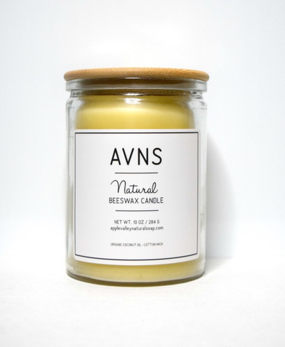 Natural Beeswax Candle by Apple Valley Natural Soap