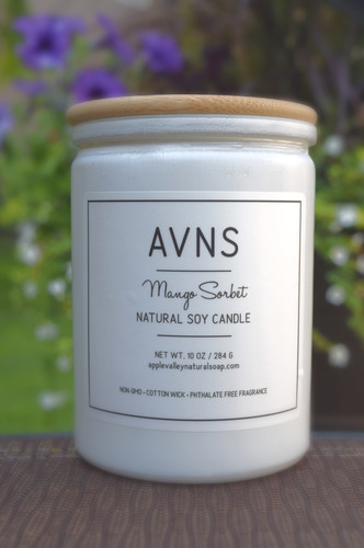 Limited Edition Mango Sorbet Soy Candle by Apple Valley Natural Soap