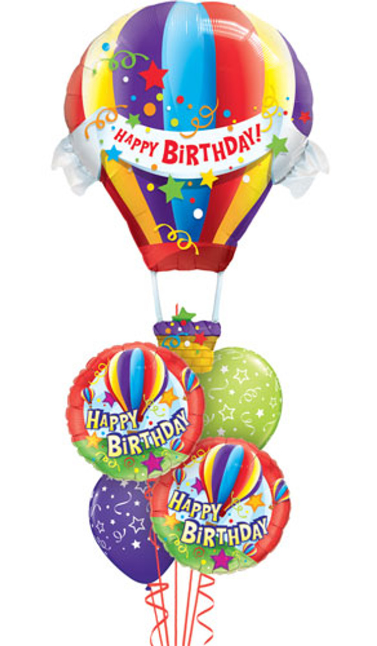 Birthday Hot Air Balloon Bouquet Balloons Galore Gifts