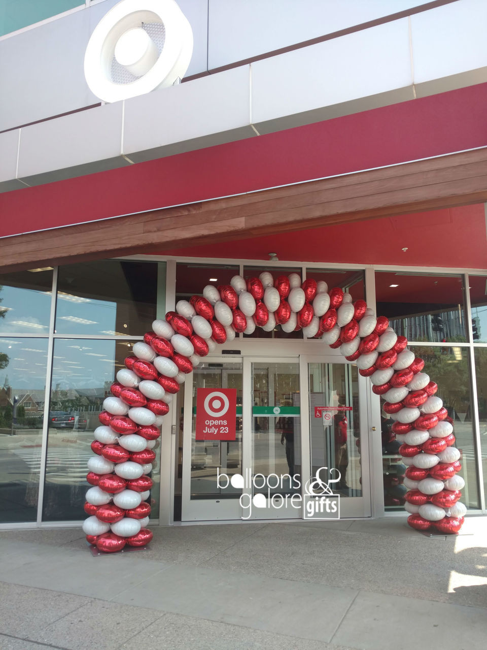 Target Grand Opening Balloon Arch Latex Free Balloon Arch