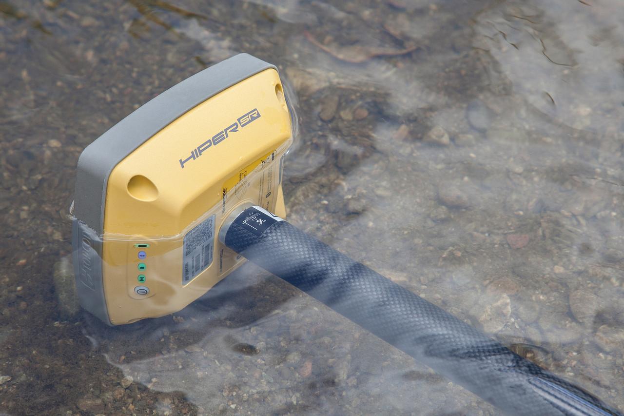 Topcon Hiper SR GPS/GNSS submerged IP67 environmental rating