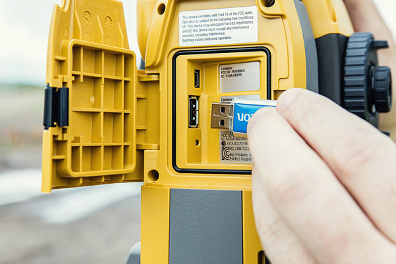 USB data transfer from the Topcon GT is standard.