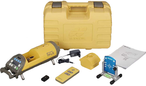 Topcon TP-L5A comes with hard carry case, target, remote control and charger