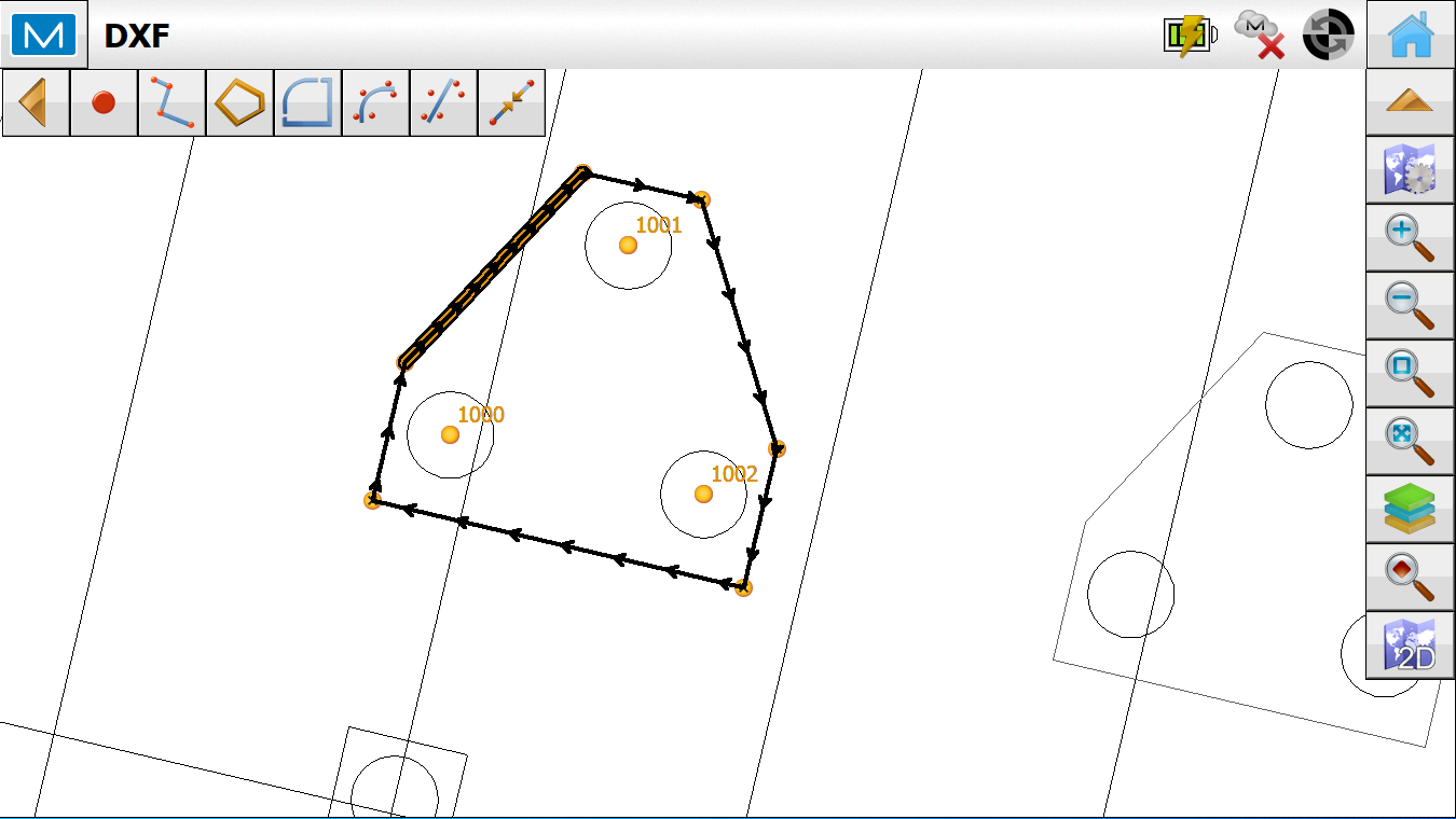 Creating Points and Lines from background CAD files in Magnet Field