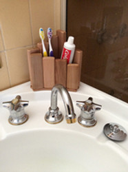 Wooden Toothbrush Holder Custom Made from Western Red Cedar