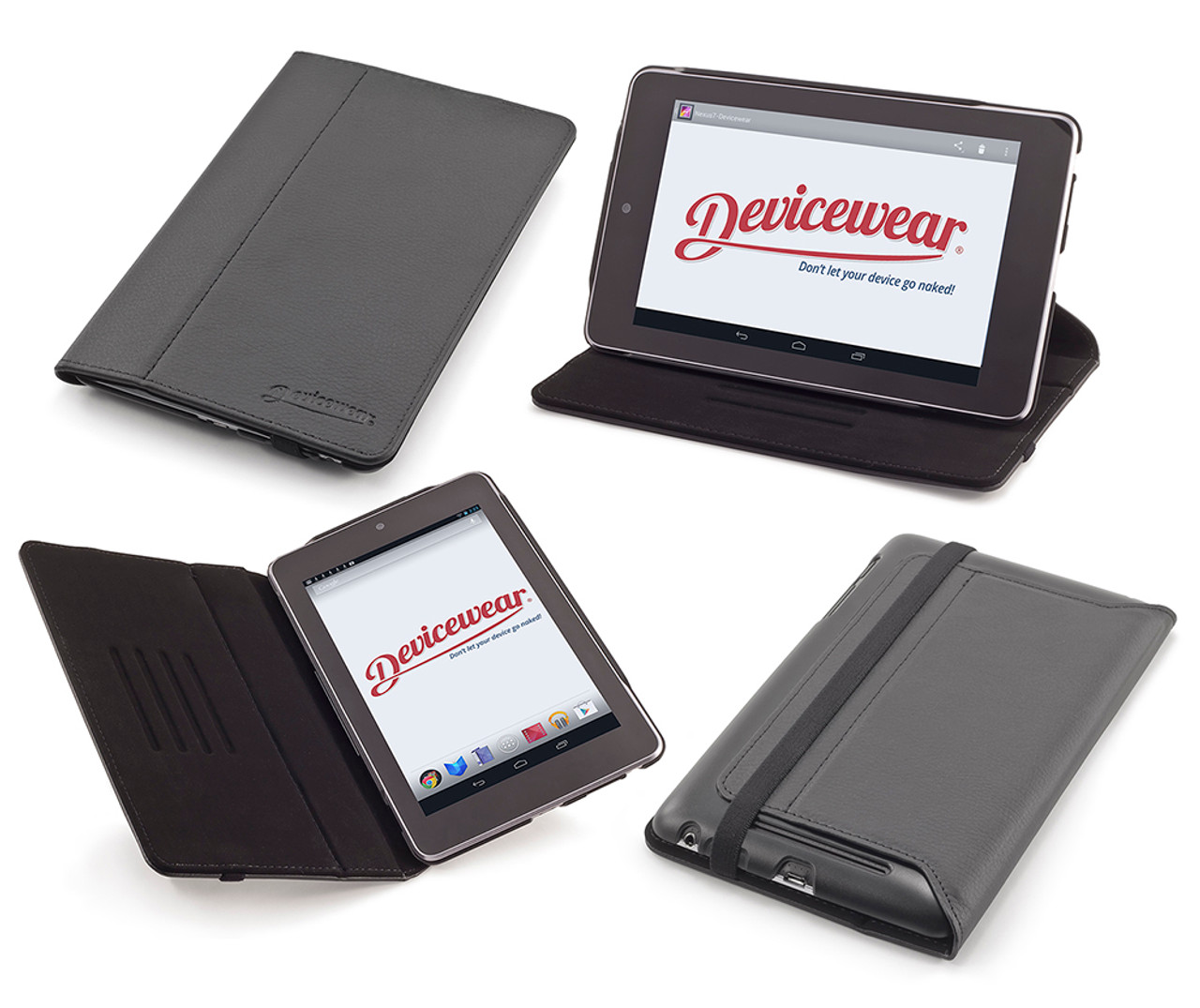 The Ridge By Devicewear Black Vegan Leather Case For The Google Nexus 7