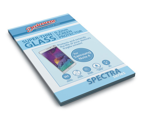 Spectra Series - 0.2mm Tempered Glass Screen Protector for Samsung Note 4 by Devicewear