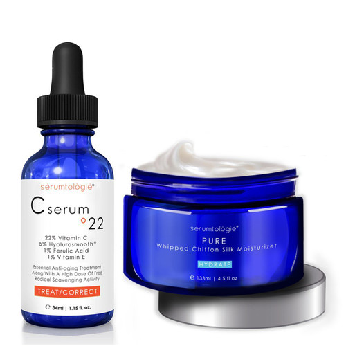 Facial Serum and Cream Moisturizer with Pure Whipped Chiffon