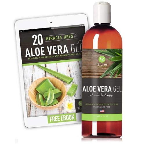 Organic Aloe Vera Gel for Face Hair & Skin Care 12 oz