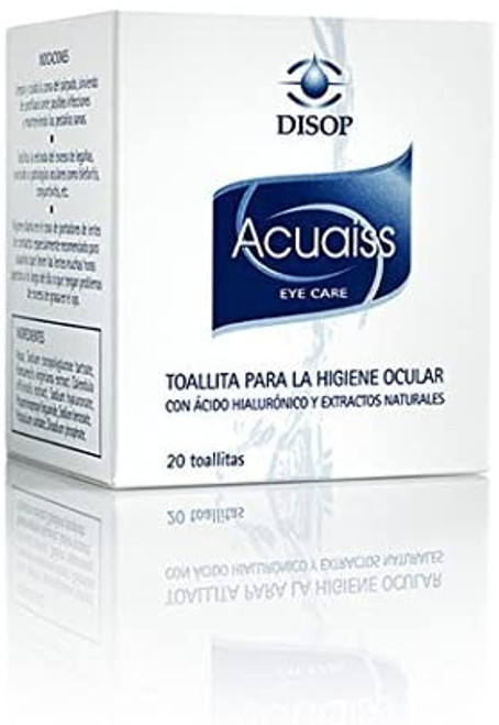 Eyelid Cleansing Wipes with Hyaluronic Acid and Aloe Vera Pre Moistened 20 pcs