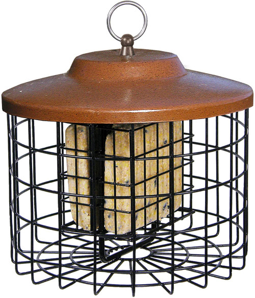 Squirrel Proof Double Locking Closure Bird Feeder - Durable Cage w/ Metal Roof