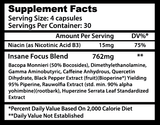 INSANE FOCUS ingredients
