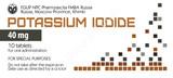 Potassium iodine pills high dose