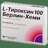 L-Thyroxine 100 mg 50 tablets