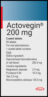 ACTOVEGIN® 200 mg/tab, 50 tabs/pack OR Injectables