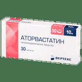 Atorvastatin 10 mg 30 tabs