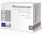 Phenazepam injectable ampoules