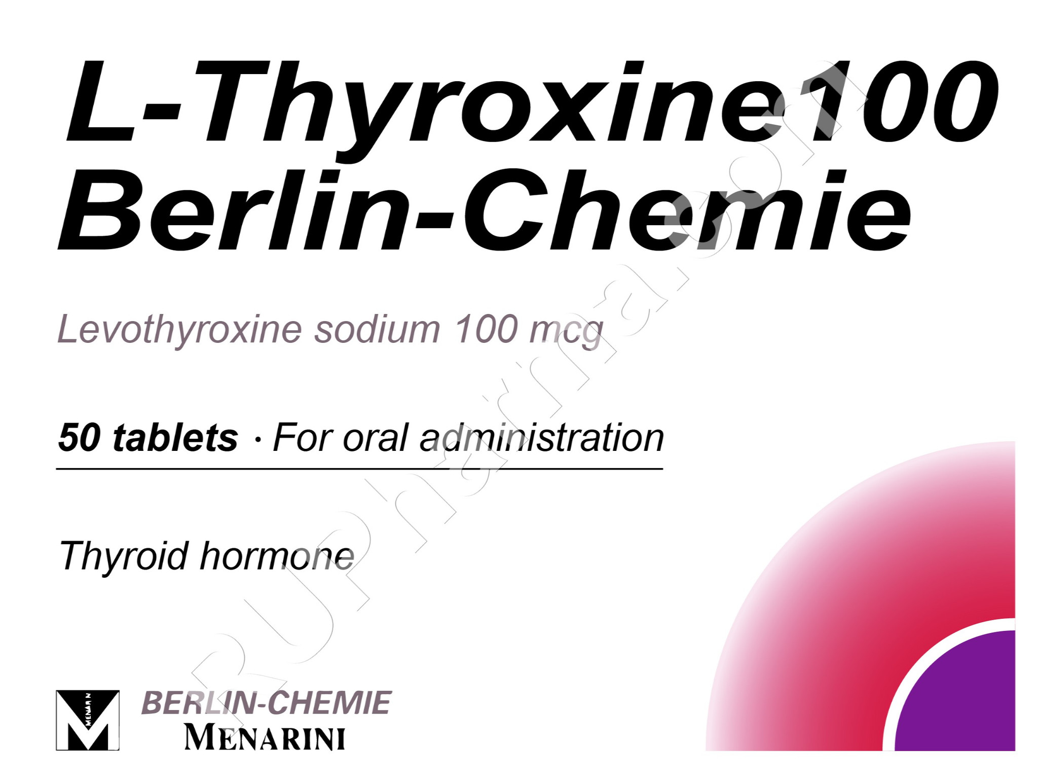 Buy L Thyroxine Levothyroxine 50 100 Tabs 50 150 Mcg Tab