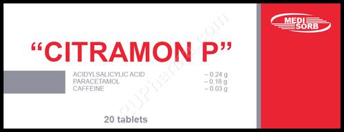 CITRAMON P®, (Chephapyrin, Dolopyrin, Melabon, Neuralgin), 20 tabs/pack