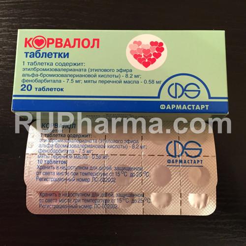 CORVALOL®, (Kopbanon, Corvalolum, Korvalol), 20 tabs/pack