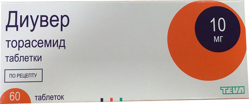 DIUVER®, (Torasemid Demadex, Examid), 60 tabs/pack, 10 mg/tab