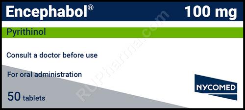 ENCEPHABOL®, (Encefabol, Pyritinol, Cerbon 6) 50 tabs/pack, 100 mg/tab