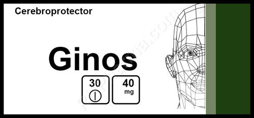 GINOS®, (Ginkgo Bilobae Extract), 30 tabs/pack, 40 mg/tab