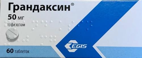 GRANDAXIN®, (Tofisopam, Emandaxin, Seriel) 60 tabs/pack, 50 mg/tab