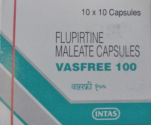 VASFREE 100® (Flupirtine Meleate) 100 caps/pack, 100 mg/cap