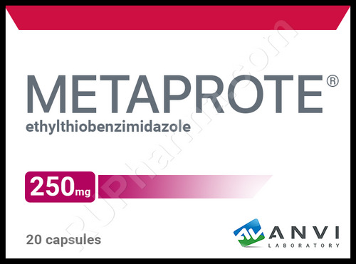 METAPROT®, (Metaprote, Bemitil) 20 tabs/pack, 250 mg/tab