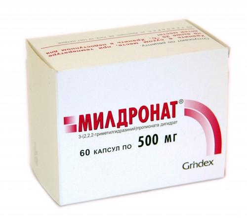MILDRONATE® (Meldonium), 40-60 cap/pack, 250-500 mg/cap