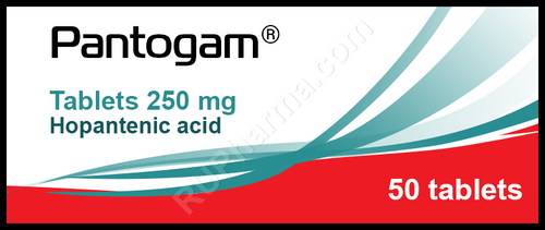 PANTOGAM® (Hopantenic acid, GABA) 50 tabs/pack, 250 mg/tab