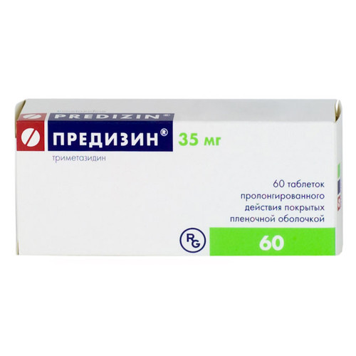 PREDISIN® (Trimetazidine) 60 tabs/pack, 35 mg/tab