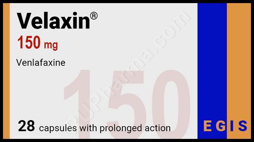 VELAXIN®, (aka Venlafaxine, Effexor, Lanvexin, Viepax) 28pills/pack, 150mg/pill
