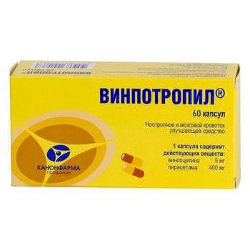 VINPOTROPILE®, (Vinpocetine + Piracetam) 60 caps/pack