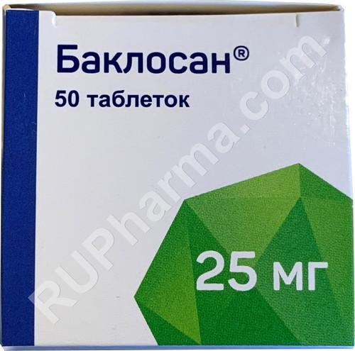 BACLOSAN® (Baclofen, Riclofen), 50 tabs/pack, 25 mg/tab