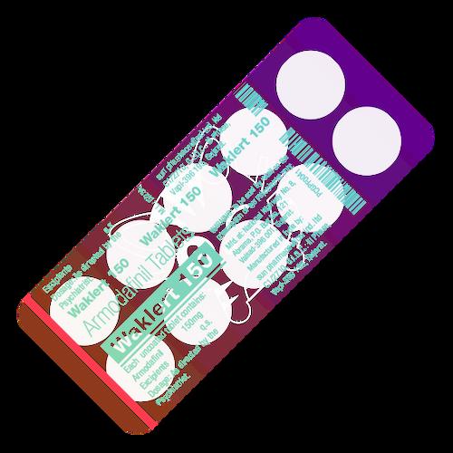 WAKLERT® (Armodafinil), 10 tabs/pack, 150 mg/tab