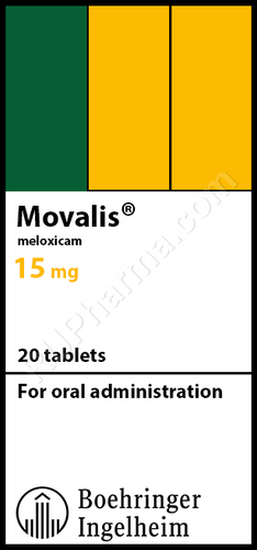 MOVALIS® (Meloxicam), 20 tabs/pack, 15 mg/tab
