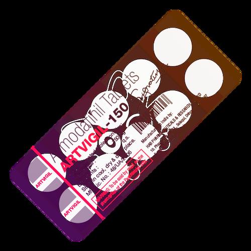 ARTVIGIL® (Armodafinil), 10 tabs/pack, 150 mg/tab