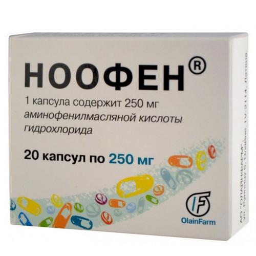 NOOFEN® (Phenibut-R, GABA) 20 tabs/pack, 250 mg/tab