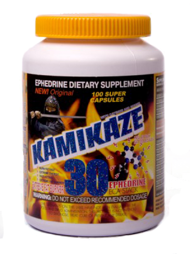 EPHEDRINE KAMIKAZE (Fat Burner), 100 caps, 30 mg/cap