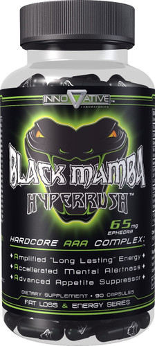 Black Mamba Hyperrush® 90 caps/pack, 65 mg/cap