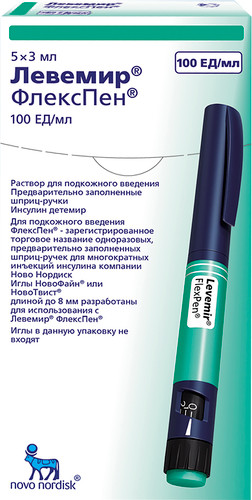 LEVEMIR FLEXPEN® (Insulin) 5pens, 100UI/ml, 3ml/pen
